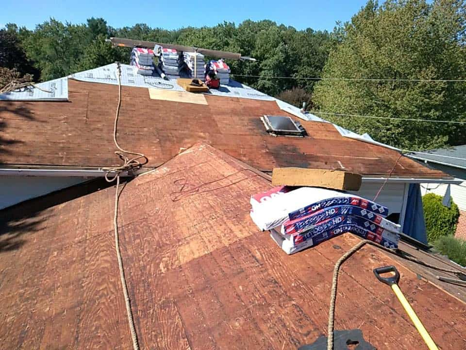 NEW ROOF BEFORE & AFTER